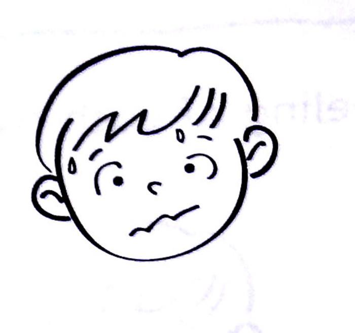 表情 担心的表情图简笔画 18张 表情图片 表白句 表情
