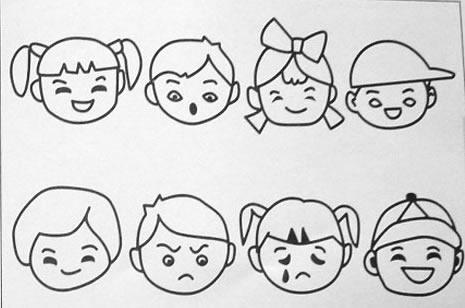 表情 儿童简笔画图片大全 陶丁视觉图库 表情
