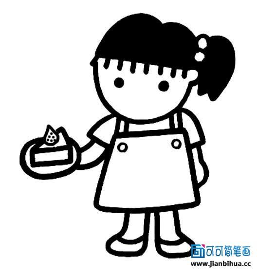 表情 害怕的表情简笔画 人物简笔画一害怕的女孩 面包站剧情分集 表情