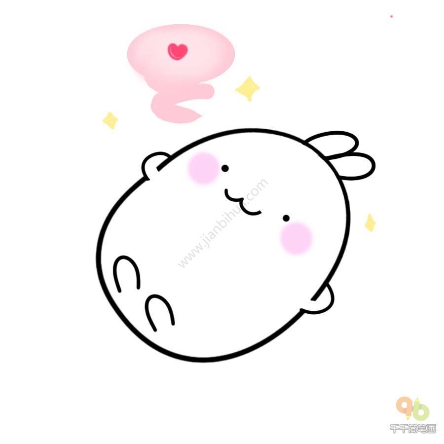 表情 土豆兔可爱表情包简笔画大全千千简笔画人人都能轻松画简笔画图片大全教程 表情