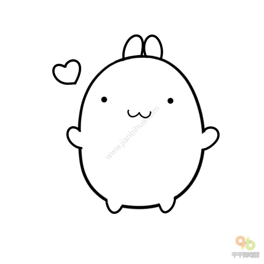 表情 土豆兔抱抱表情包千千简笔画人人都能轻松画简笔画图片大全教程 表情