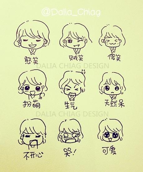 表情 人物简笔画图片大全 我们的表情 5068儿童网 表情图片