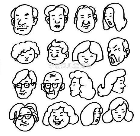 表情 幼儿简笔画面部表情 幼儿简笔画面部表情分享展示 表情