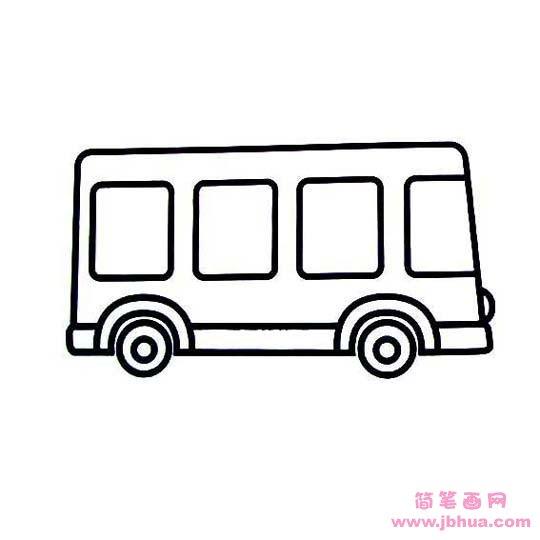 表情 幼儿小公共汽车简笔画 简笔画网 表情