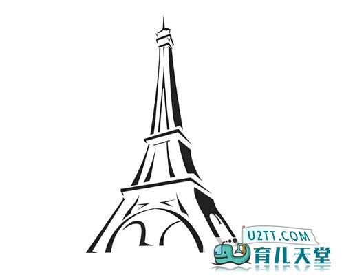表情 巴黎铁塔黑白简笔画,素描铁塔的简笔画 风景简笔画 育儿天堂 表情