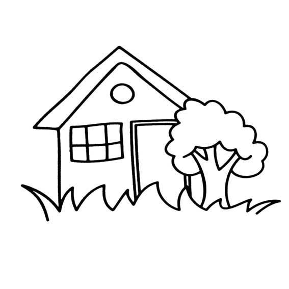 表情 房子简笔画 房子图片,卡通简笔画 千叶帆文摘 表情