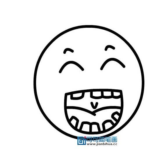 表情 人物表情简笔画大全笑的表情画法 4 可可简笔画 表情