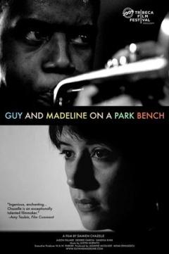 公园长椅上的盖伊与玛德琳