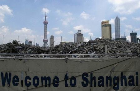 上海——建筑工地上的生活