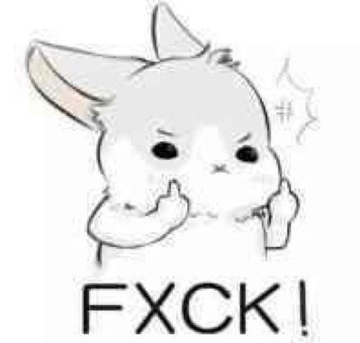 兔子脑阔疼表情包图片