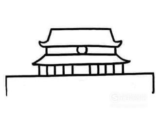 北京故宫 天安门 简笔画 步骤教程 大师来详解