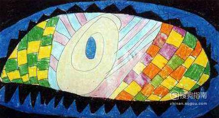 保护眼睛的儿童画怎么画?,照着学就行了