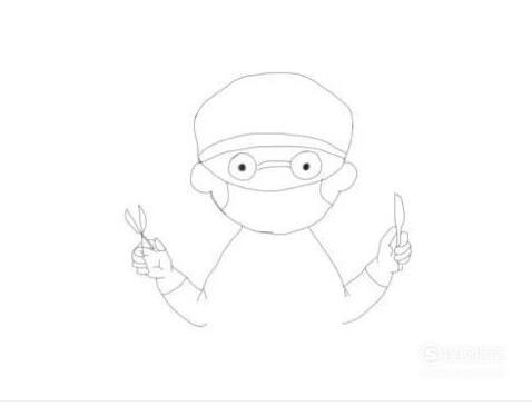 """怎样画简笔画""""戴口罩的医生""""?,需要技巧"""