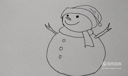 冬天雪景的简笔画方法,需要技巧