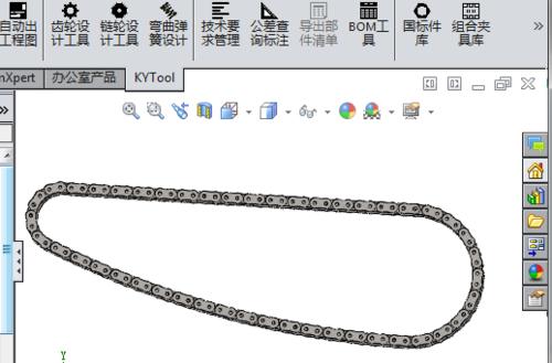 三维软件绘制滚子链方法模型的科技看完方案展示厅v软件链条图片