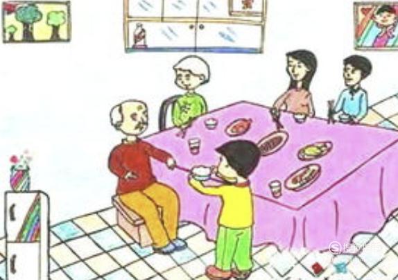 幸福一家人儿童画怎么画?,值得一看
