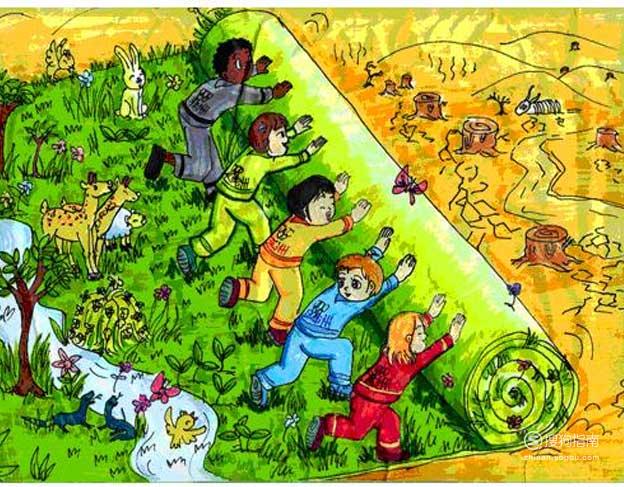 保护环境的儿童画怎么画? 值得一看