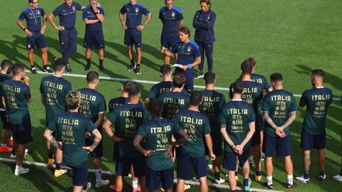 意大利队重返训练场