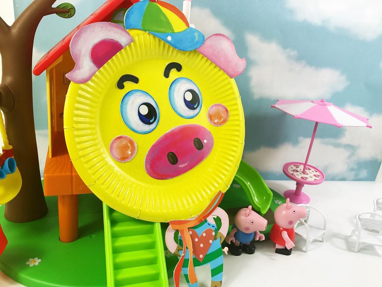 手工制作盘子猪
