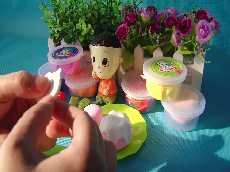 橡皮泥手工制作 生日蛋糕 亲子游戏