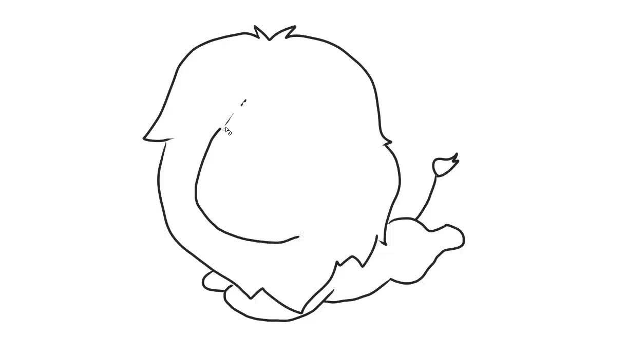 可爱的小狮子儿童简笔画 宝宝轻松学画画