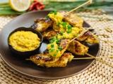 亚洲风味沙爹燕麦鸡肉串