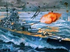 围剿德国俾斯麦号战舰,独自对抗60艘英国战舰