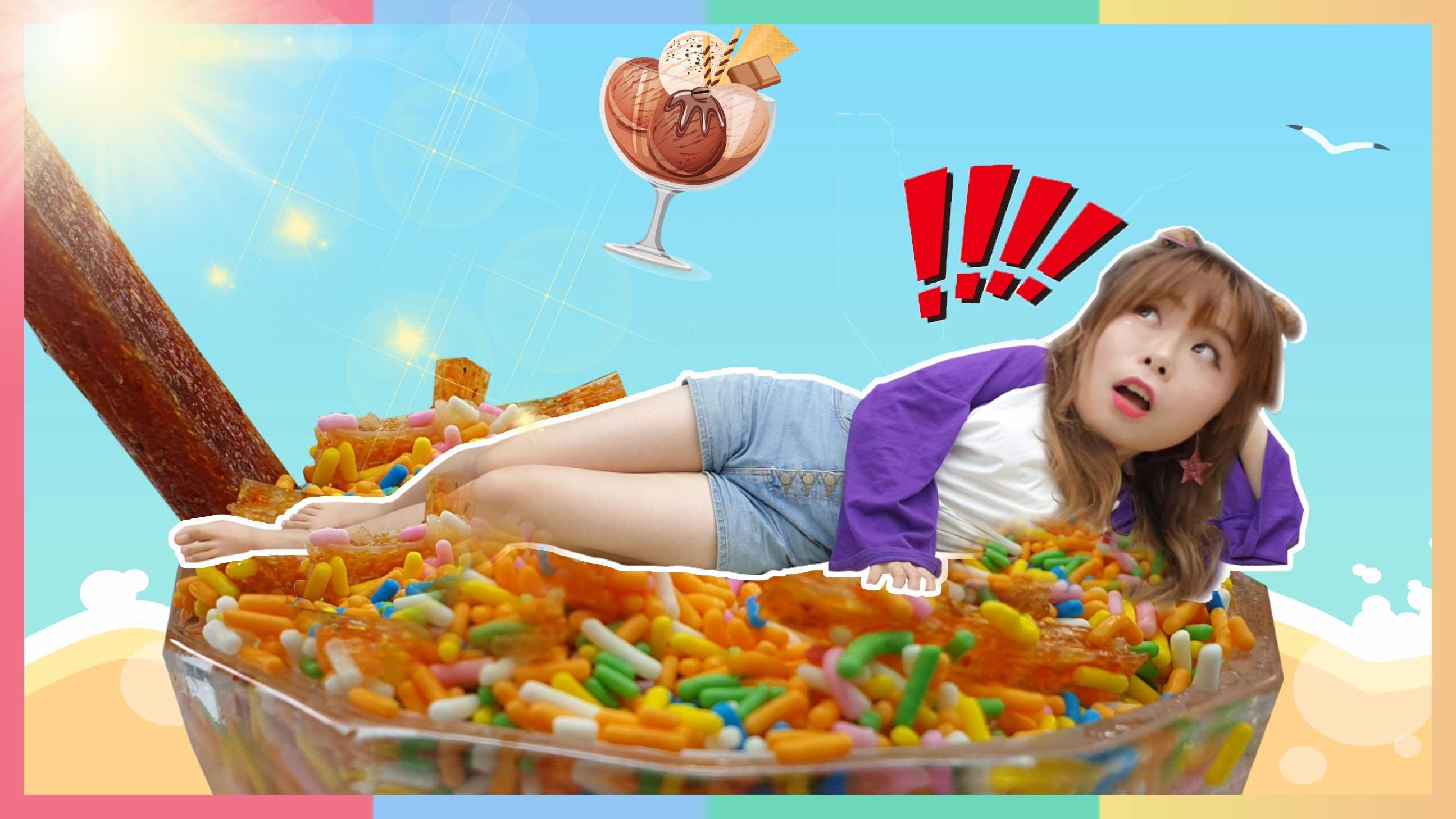 DIY消夏美食!吃一口就忘不掉的辣条刨冰 | 凯利和玩具朋友们 CarrieAndToys