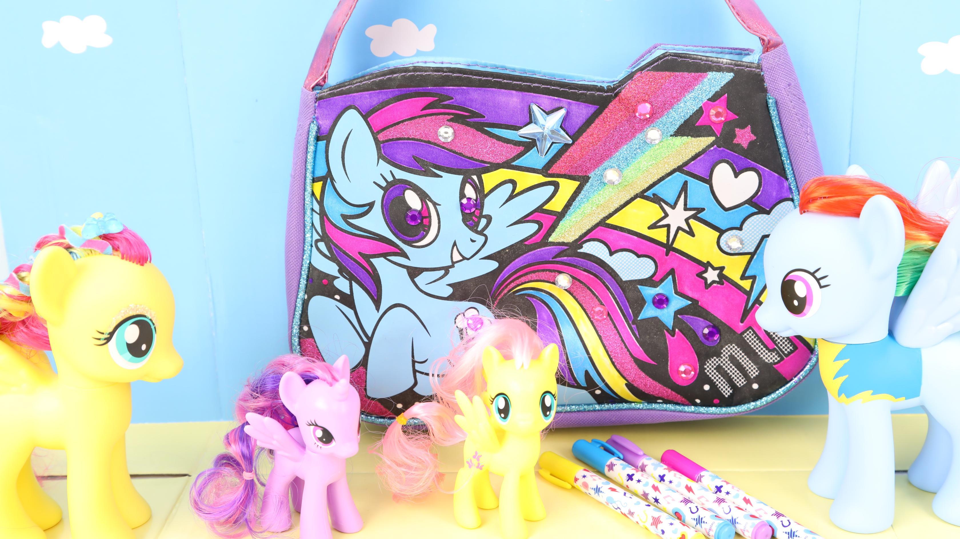 小马宝莉 云宝的七彩手绘包包 彩虹小马玩具手工制作