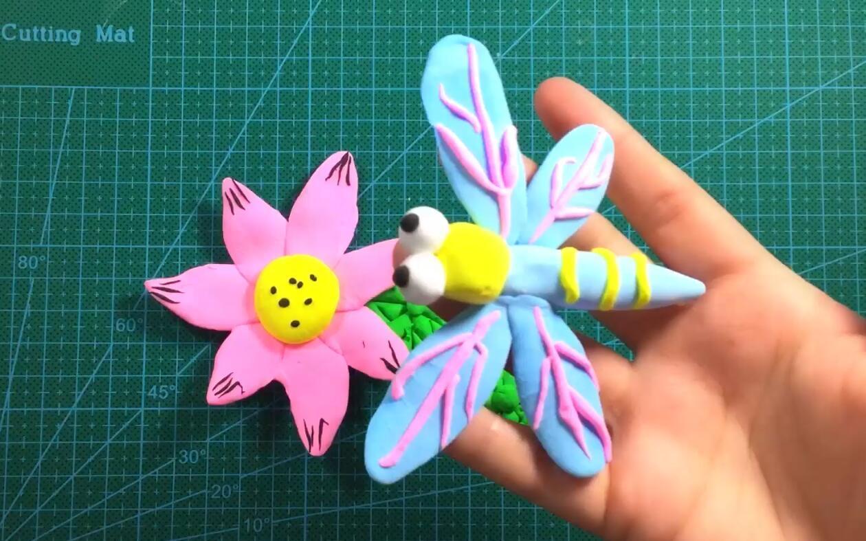 【可乐姐姐做手工】粘土荷花上的小蜻蜓