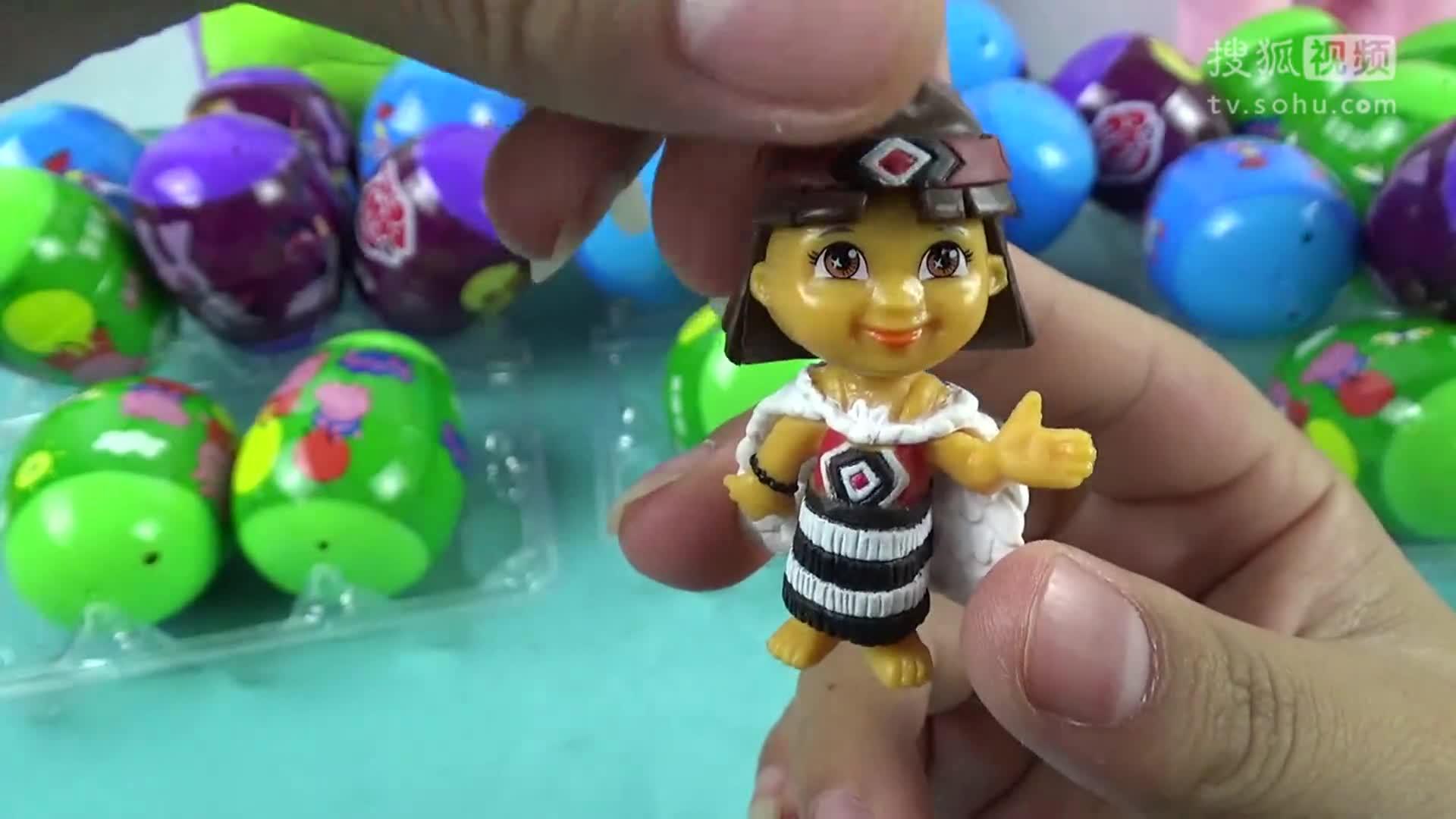 【宝宝玩具】:16 迪士尼公主们惊喜蛋玩具朵拉历险记