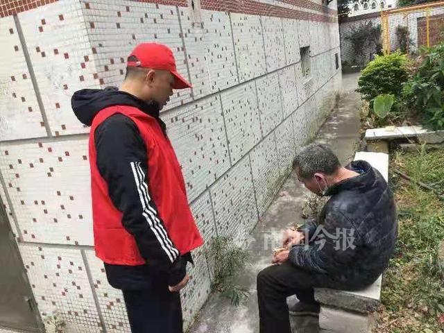 天寒人心暖,航北社區志願者幫助走失老人回傢