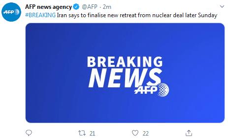 全新2018奇迹私服发布网快讯!伊朗:将在今天晚些时候敲定退出伊核协议新方案