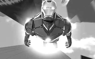 《复仇者联盟》电影草稿动画 托尼坠楼变身钢铁侠