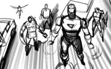 《复仇者联盟》曝光电影草稿动画 黄蜂女惊鸿一瞥