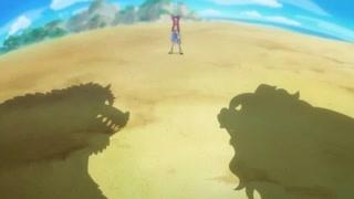 猛兽打架 路飞:可以,但不能破坏我的船!