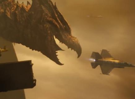 《哥斯拉2:怪兽之王》日本版预告 哥斯拉基多拉对喷射线惊爆眼球