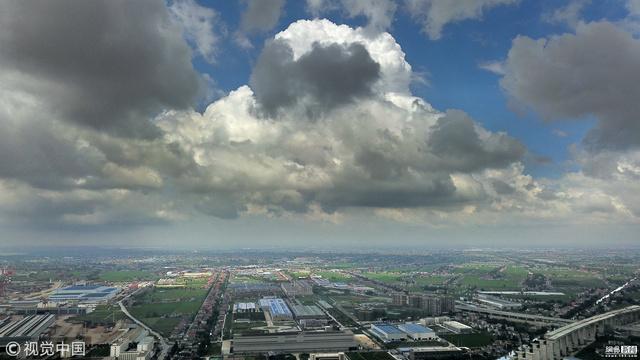 """台风""""温比亚""""或将来袭 江苏南通风起云涌"""
