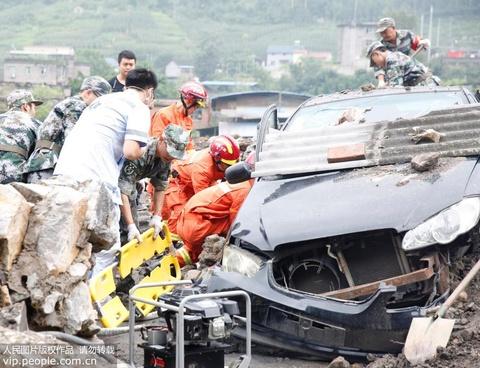 四川广安:举行特大地质灾害综合应急演练
