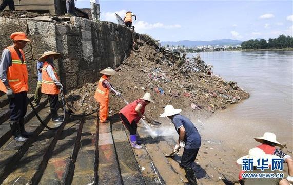 湖南祁阳:洪水过后恢复忙