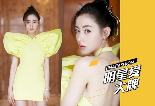 明星爱大牌:张天爱柠檬妆造型甜酷满分