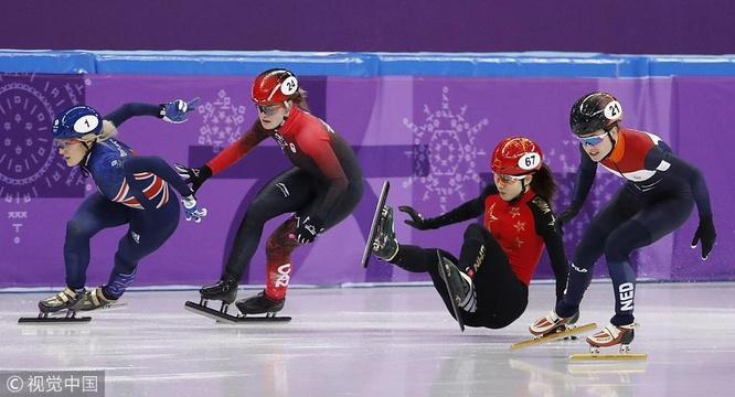短道速滑女子500米 范可新曲春雨犯规止步半决赛
