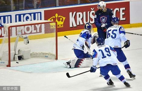 2019男子冰球世锦赛小组赛A组:法国Vs斯洛伐克