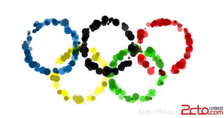 如何用PSCS6制作奥运五环