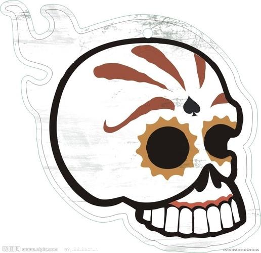 花纹样式骷髅头美甲