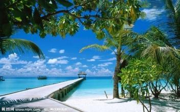 海边风景摄影图 山水风景