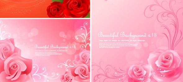 玫瑰背景素材