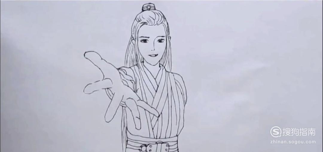 简笔画肖战怎么画 详情介绍