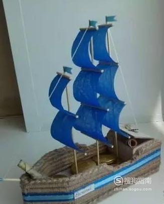 小孩怎么做简单的手工制作:简易手工帆船