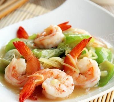 丝瓜炒虾仁怎么做好吃